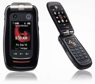 NEW VERIZON MOTOROLA BARRAGE V860 FLIP PHONE RUGGED CLEAR ESN