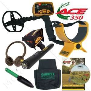 Garrett Ace 350 Metal Detector Ultimate Treasure Hunter Package W/Free