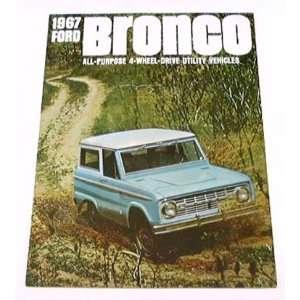 1967 67 Ford BRONCO Truck BROCHURE Wagon Pickup 4wd