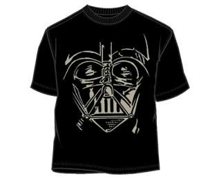 BRAND NEW Star Wars Jumbo Darth Vader Face Mens Unisex Black T Shirt