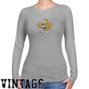 NCAA Oral Roberts Golden Eagles Ladies Ash Distressed Logo