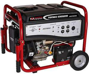 Amico AG7500E Gas Powered 6500 Watt Generator w/ Wheel Kit