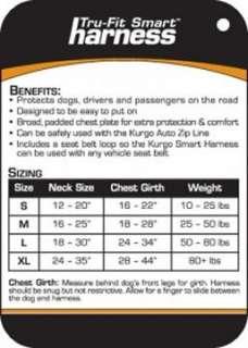 EXTRA LARGE KURGO DOG TRU FIT SMART CAR SEAT HARNESS