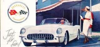 1954 Chevrolet Chevy Corvette Original Sales Brochure