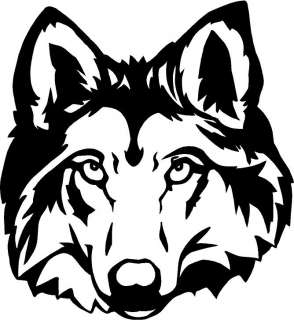 Wolf Head Large Vinyl Decal Car Truck Window Sticker