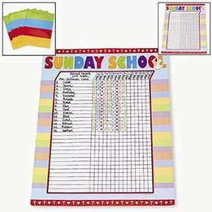 Sunday School Attendance Sticker Chart   Teacher Resources
