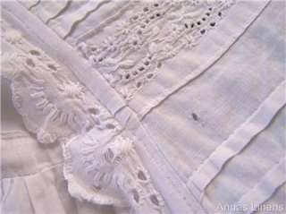 Antique Baby Christening Gown Dress Hand Embroidered Lace Victorian