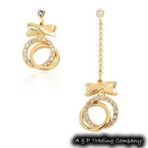 Authentic Korean Fashion Charming Crystal Unbalance Earring
