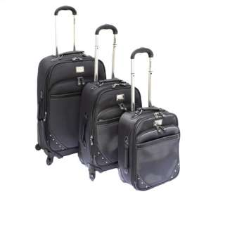 Kenneth Cole Reaction Curve Appeal II 3 Piece Luggage Set   Charcoal