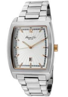 Kenneth Cole Watch KC9068 Mens Light Silver Textured Dial Stainless