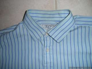Charles Tyrwhitt Mens Dress Shirt 17   35 Blue Button Down French