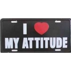 Love My Attitude License Plates Plate Tags Tag auto vehicle car front