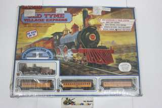 Bachmann HO 00605 OLD TYME STEAM LOCOMOTIVE AND TENDER WITH OPERATING