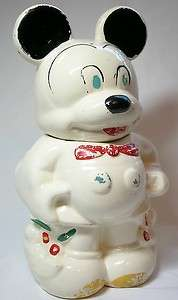 Walt Disney Mickey Minnie Mouse Turnabout Vintage Cookie Jar