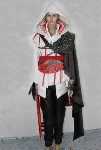 Assassins Creed brotherhood Ezio cosplay costume with Hidden blade
