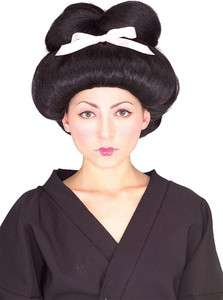 Japanese Geisha Girl Womens Black Costume Wig