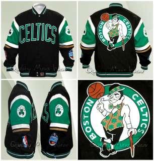 Boston Celtics Jacket 2XL Cotton Twill Black Green White Gold $160 NWT