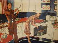 VINTAGE ADVERTISING HUSBAND/WIFE GAS STOVE FUEL