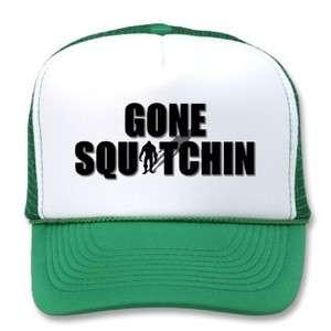 Squatchin W/Bigfoot Pic Trucker Hats Cool Hat BFRO Grn/Pnk/Bro