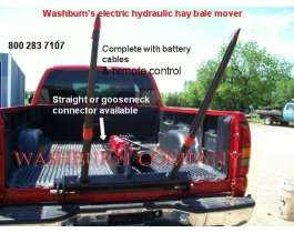Pickup truck 12 volt hydraulic hay bale spear flatbed g