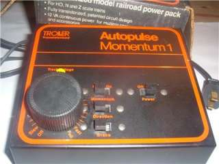TRANSFORMER POWER PACK WITH MOMENTUM TROLLER TRANSISTORIZED IN BOX