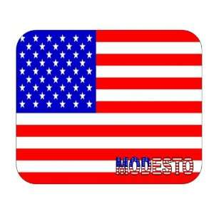US Flag   Modesto, California (CA) Mouse Pad Everything