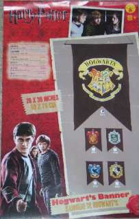 Harry Potter Hogwarts School Logo Wall Banner 20 x 30, NEW SEALED