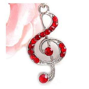 Treble Clef Cell Phone Charm Strap c649