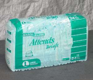 Attends Adult Briefs Large L Diapers BR30 Lot  72