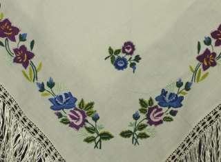 embroidered floral shawl ethnic folk costume POLAND regional trendy