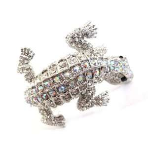 Le Neon Fashion Lizard Shaped Cuff Open Style Bangle Cuff Bracelet