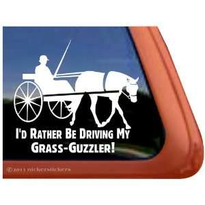 Grass Guzzler Horse Driving Horse Trailer Vinyl Window
