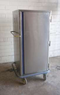 All Stainless Steel Food Transport Cabinet Box on Casters