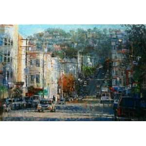Mark Lague   Haight Ashbury Hills Artists Proof Canvas