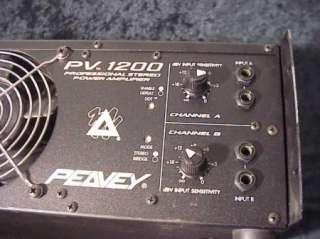 PEAVEY PV 1200 PROFESSIONAL STEREO POWER AMPLIFIER 600 WATTS PER