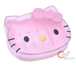 Sanrio Hello Kitty Soap Case /Tray Pink Face   Licensed