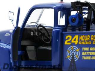 24 1953 CHEVROLET ROAD SERVICE TOW TRUCK NEW DIECAST MODEL BLUE