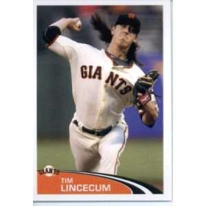 Sticker #296 Tim Lincecum San Francisco Giants Sports Collectibles
