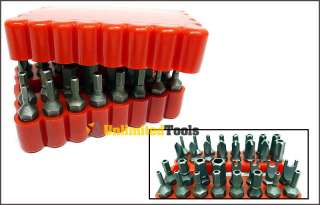 33 New Security Bit Torx Tampered Proof Drills & Drivers Screwdriver