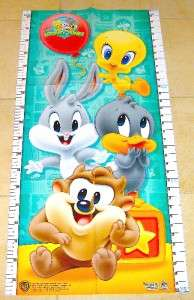 BABY LOONEY TUNES TWEETY BUGS DAFFY TAZ GROWTH CHART