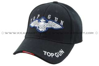 Top Gun logo Baseball Cap Black 01401