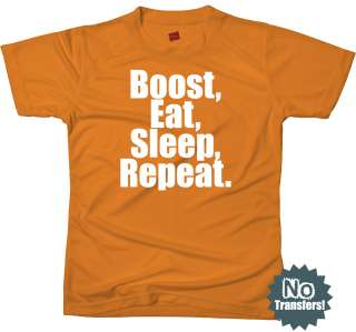 BOOST Eat Sleep Funny Nitro Turbo NOS New Mens T Shirt