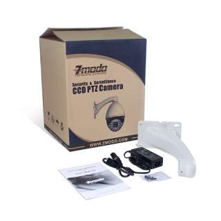 ZMODO 22X Optical Zoom 260ft IR Outdoor High Speed CCTV Security PTZ