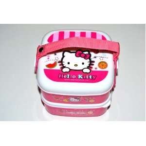 Hello Kitty Bento Lunch Box Set w/ Handle Kitchen