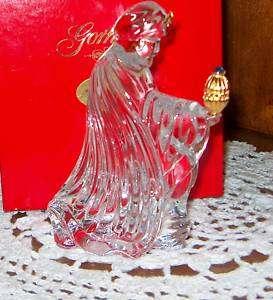 Gorham Crystal Nativity King Balthazar in Original Red Box Mint, King