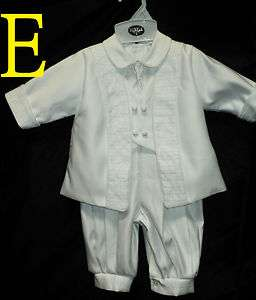 Baby Boy Baptism Christening White Suit/Outfit/Ey;/ SIzES: 3M,6M,12M