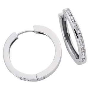 White Gold Huggie Earring   14KWwhite gold S. Kashi & Sons Jewelry