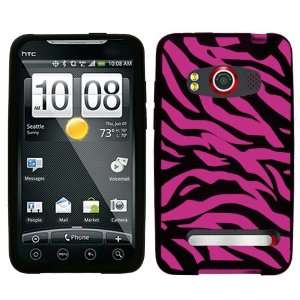 Hot Pink Zebra Laser Cut Skin Case for HTC EVO 4G Sprint