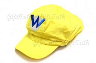 Super Mario Bros Anime Hat Wario W Cap Yellow Cosplay