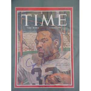 Jim Brown Autographed Signed November 26 1965 Time